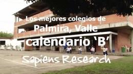 Los mejores colegios de Palmira, Valle calendario 'B'