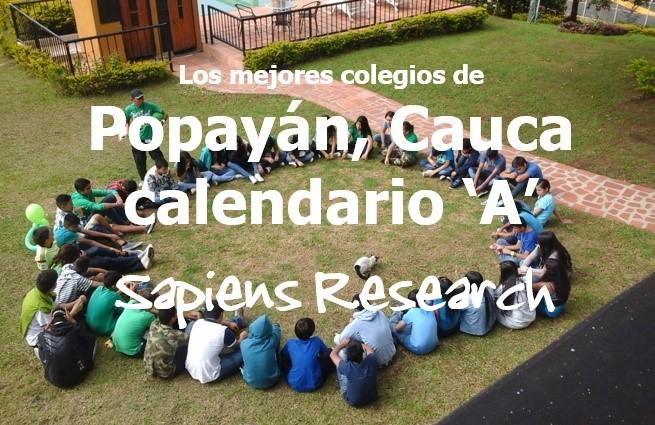 Los mejores colegios de Popayán, Cauca calendario 'A'