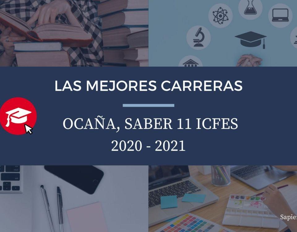 Las mejores carreras Ocaña, saber 11, Icfes 2020-2021