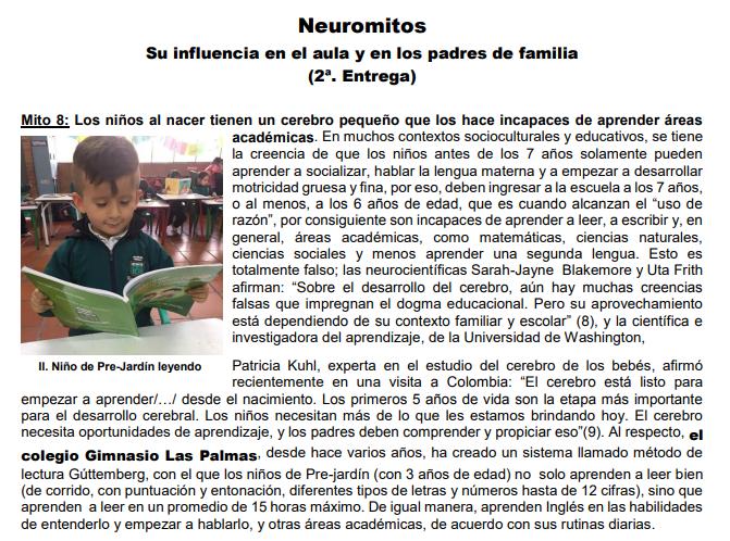 Neuromitos en la educación.