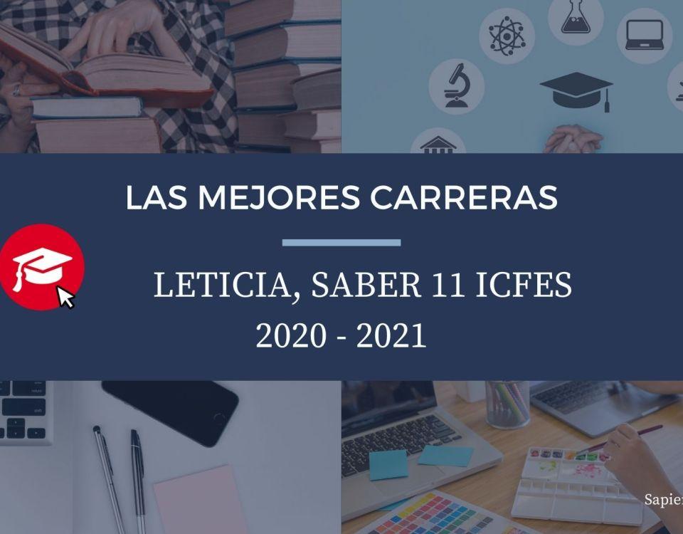 Las mejores carreras Leticia, saber 11, Icfes 2020-2021