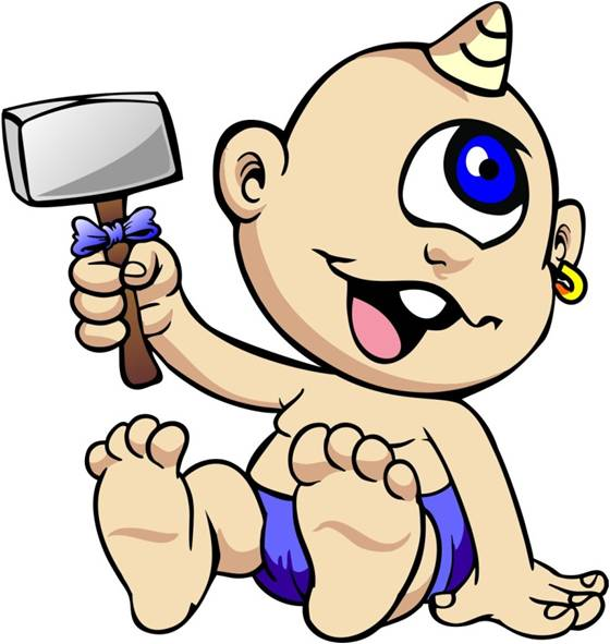 Graphic image of Baby Telemachus