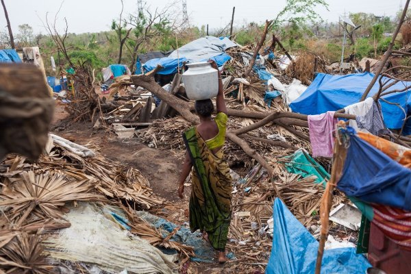 Aftermath of Cyclone Hudhud in Visakhapatnam, India