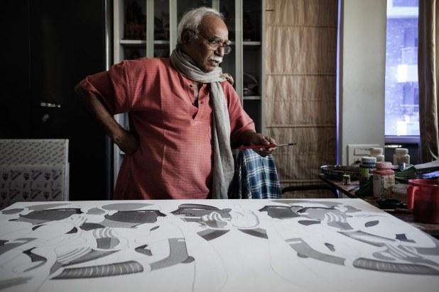 Thota Vaikuntam, Painter.