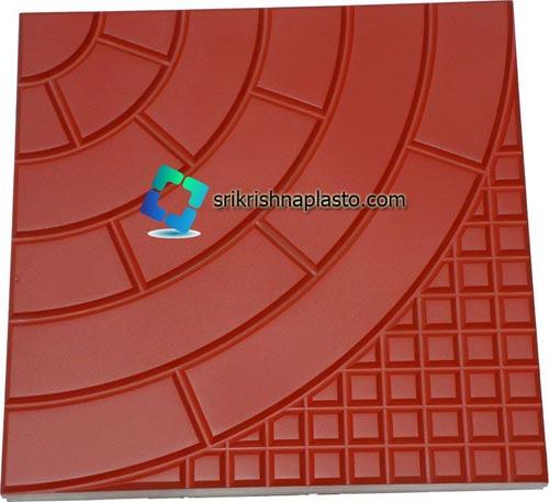 Half Round Designer Concrete Tiles Rubber Mould