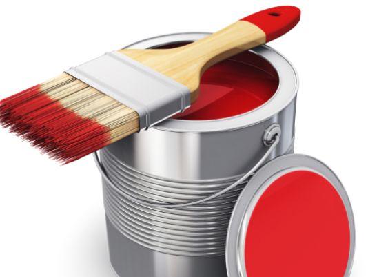 interlocking Floor Tile Red Paint