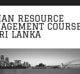 human resource management courses in sri lanka