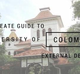 University of Colombo External Degree