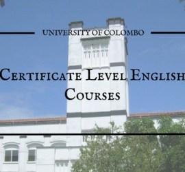 english courses in colombo university