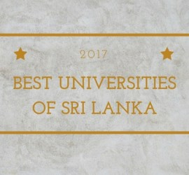 2017 Sri Lanka University Ranking
