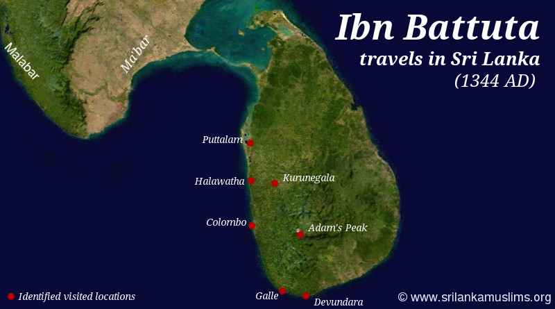 The Travels of Ibn Batuta in Sri Lanka (1344 AD)