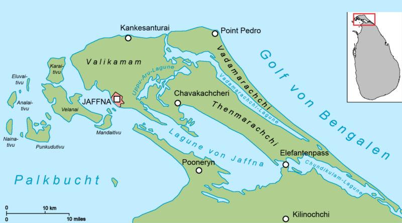 jaffna map island