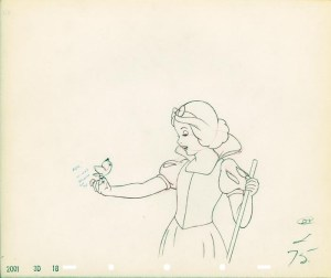 #003 ANIMATION DRAWING of SNOW WHITE Image