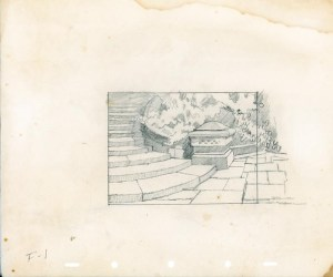 #012 LAYOUT DRAWING of THE CASTLE STEPS Image