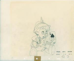 #029 ANIMATION DRAWING of PINOCCHIO Image