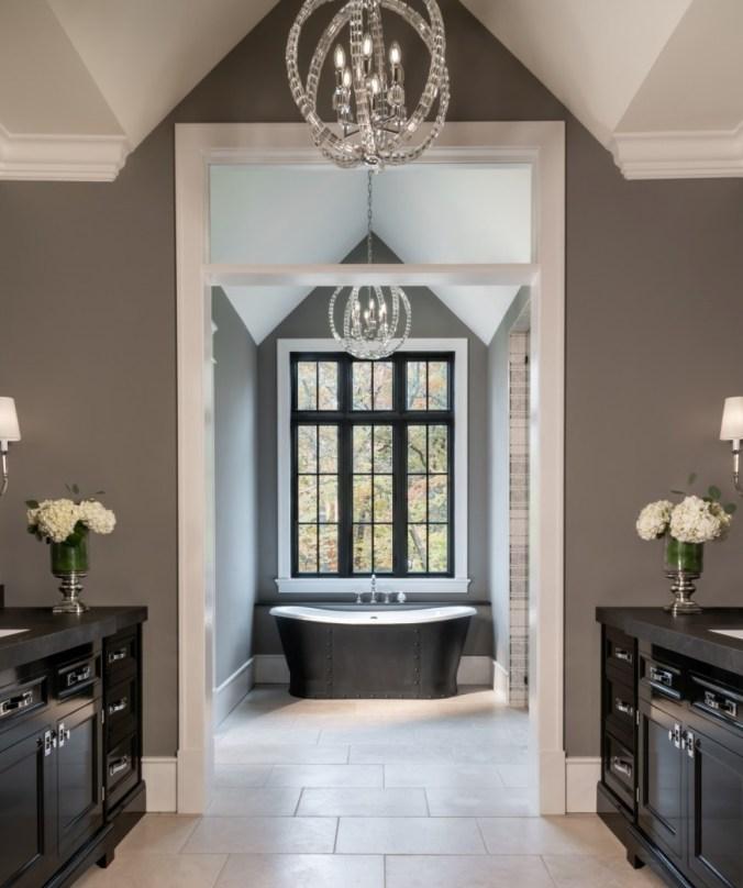 bathroom with symmetrical design