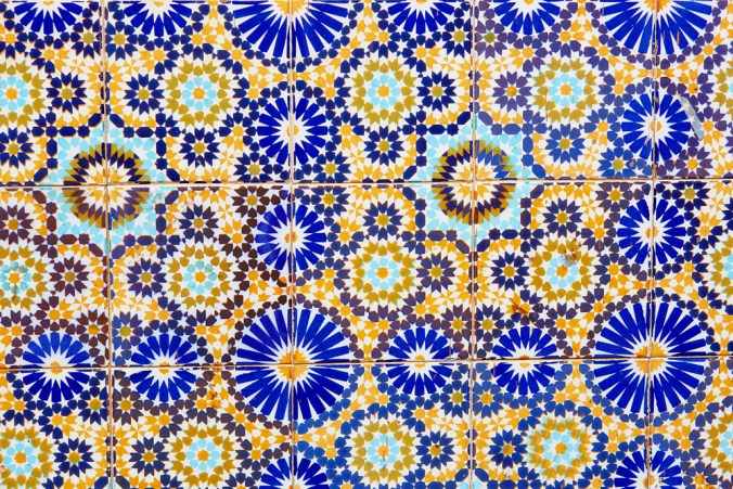 brightly colored and patterned Mediterranean tile