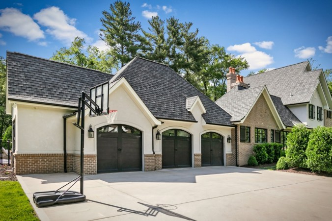 Custom home designed for corner lot
