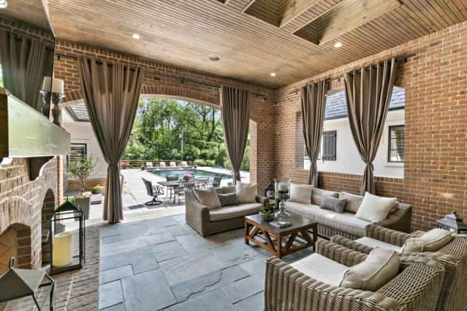 Outdoor lanai design with private southern terrace