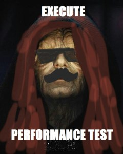 Performance test execute