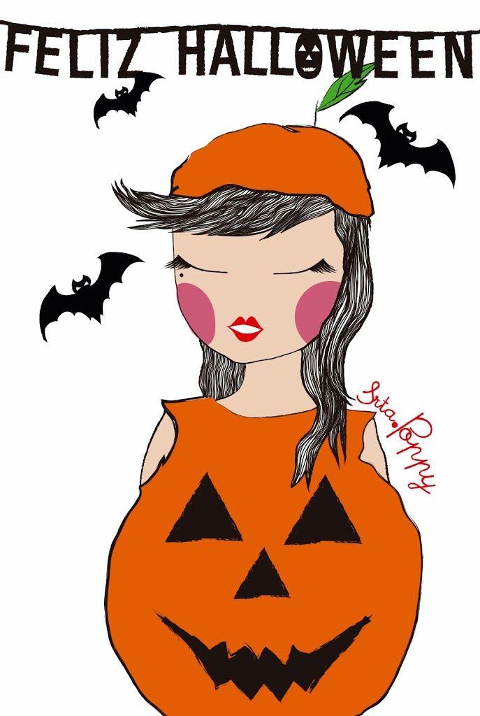 """Ilustración """"disfraz para Halloween"""""""
