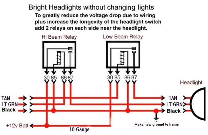 bosch headlight relay wiring diagram 94 chevy astro wiring