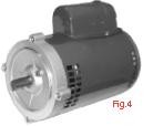 New Rotom electric motor CP-R1365 1-1/2HP, 1725 RPM, 115/230 VAC, Ball bearing