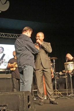 Jorge Perlingeiro e Dudu Nobre - Sorteio da ordem dos desfiles. Foto: Fat Press