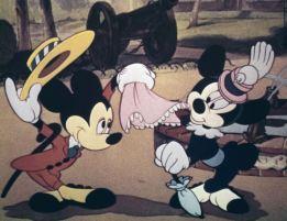 """Mickey e Minnie, já em cores, em """"Relojoeiros das Alturas"""" (Foto: Divulgação)."""