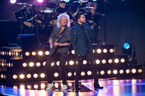 Brian May e Adam Lambert na abertura do Oscar (Foto: Divulgação – Crédito: Aaron Poole / ©A.M.P.A.S.).