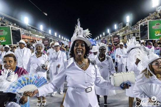 Velha-Guarda da Beija-Flor no ensaio técnico 2019. Foto: Eduardo Hollanda