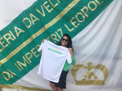 Grande apoiadora do evento, Regina foi uma das primeiras a chegar. Foto: Reprodução