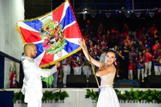 Pavilhão do enredo da Estrela do Terceiro Milênio para o Carnaval 2020. Foto: Divulgação – Léo Franco