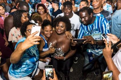 Primeiro ensaio de rua de 2020 da Beija-Flor. Foto: Eduardo Hollanda/Divulgação
