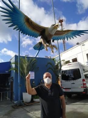 O jornalista da TV Globo Genilson Araújo foi vacinado nesta terça (20). Foto: Divulgação