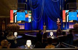 Rita Moreno apresenta o Oscar de melhor filme (Foto: Divulgação – Crédito: Todd Wawrychuk / ©A.M.P.A.S.).