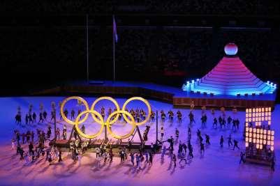 Cerimônia de abertura dos Jogos Olímpicos de Tóquio. Foto: Breno Barros/rededoesporte.gov.br/Fotos Públicas