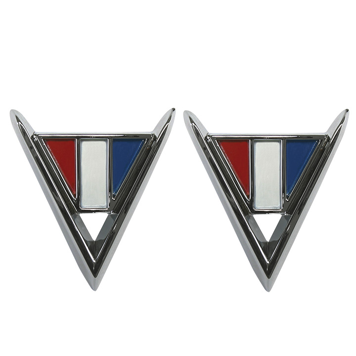 Chevelle Cross Flag Fender Emblems