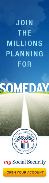 Web graphic - Join the Millions Planning for SOMEDAY – my Social Security – Open Your Account