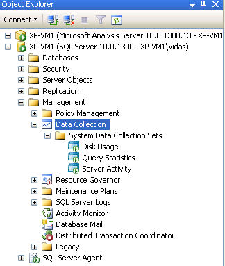 MDW in SQL Server Management Studio