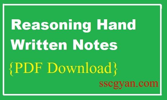 Reasoning Hand Written Notes