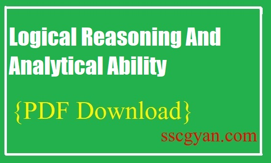 Logical Reasoning And Analytical Ability