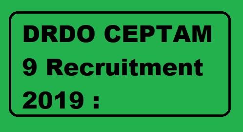 DRDO CEPTAM 9