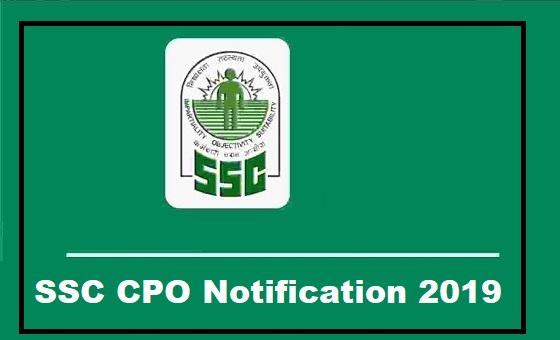 SSC CPO Notification 2019