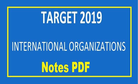 International Organisations Notes For Upsc PDF