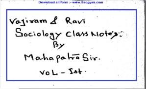 Mahapatra Sir Sociology Notes Pdf