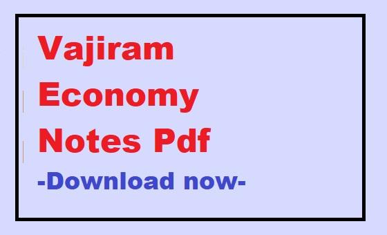 Vajiram Economy Notes Pdf