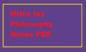 Mitra Ias Philosophy Notes PDF