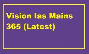 Vision Ias Mains 365