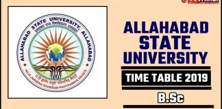 Allahabad State University Bsc 1st 2nd 3rd Year Time Table 2019